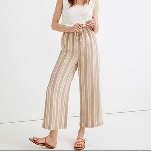 Madewell Smocked Huston Pull On Crop Pants Size XS
